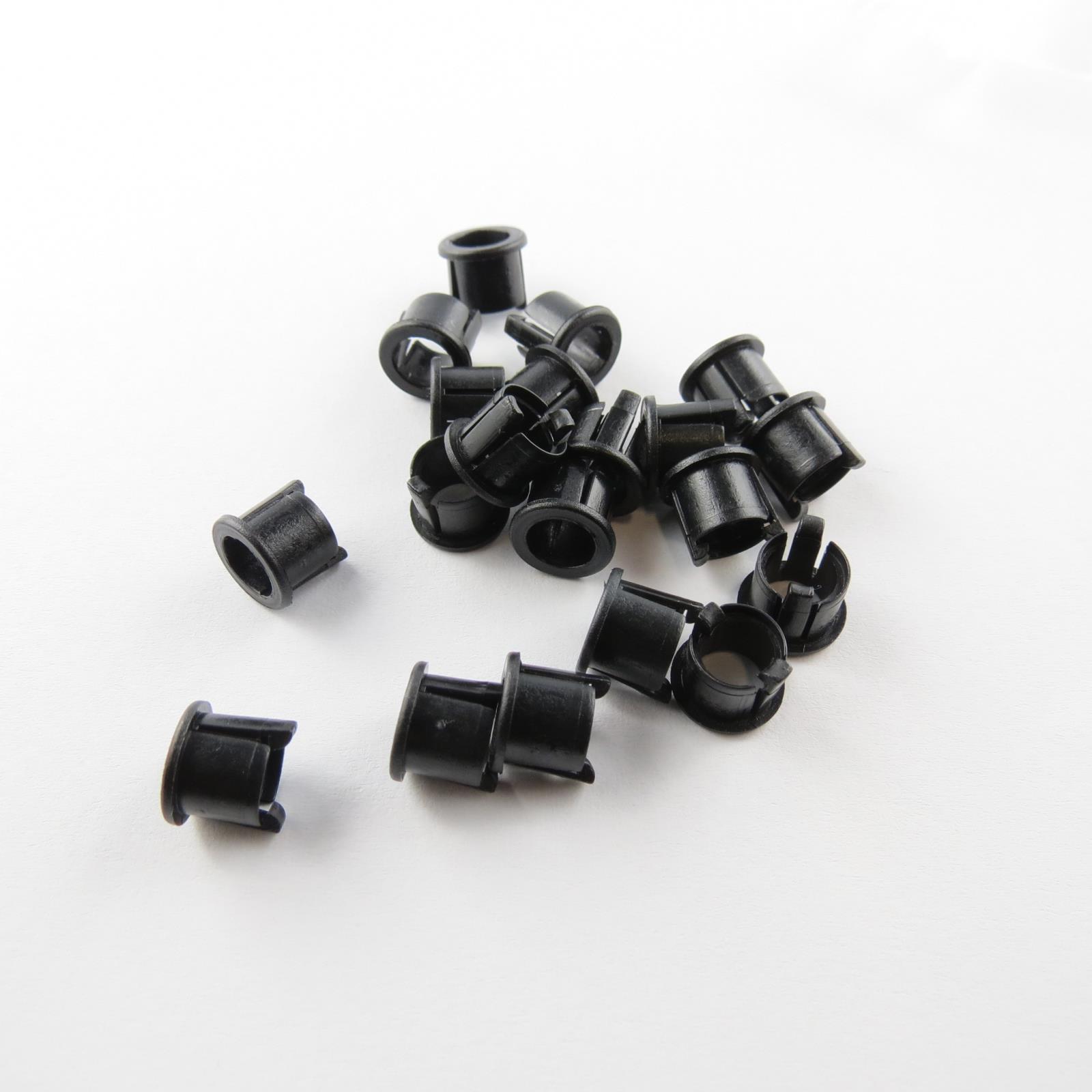 1x-schwarze-Ledfassungen-fuer-5mm-Leds-Led-Fassung-Montageringe-Kunststoff-Ring