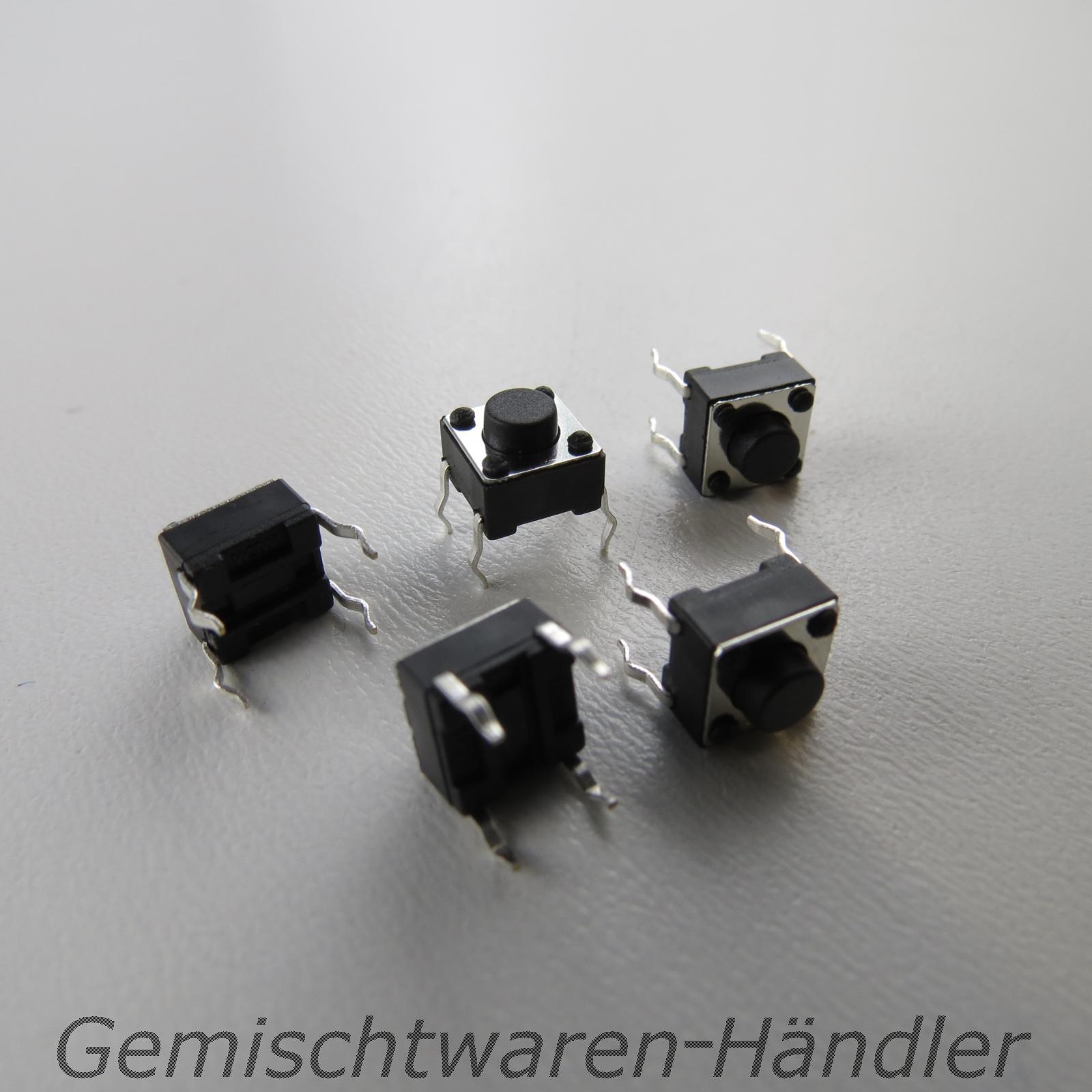10x-Mikrotaster-Mikroschalter-AUS-EIN-6-x-6-x-5-mm-0-05A-12V-Drucktaster-mini