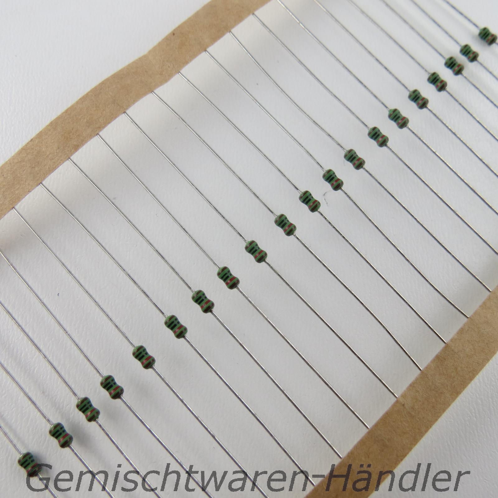 Widerstaende-Metallfilm-1K-Ohm-bis-10M-Ohm-1-0-4-W-0-25-1-4-Widerstand