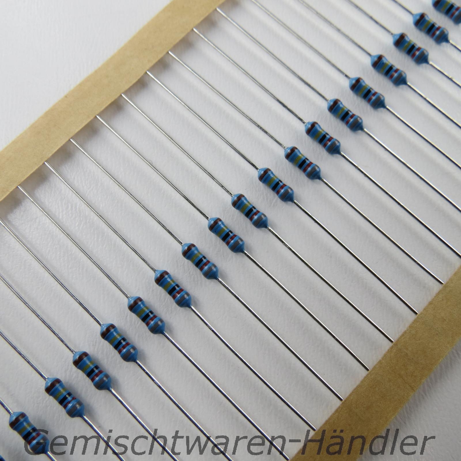 Widerstaende-Metallfilm-0-1000-Ohm-1-0-4-W-0-25-1-4-Widerstand-E12-E10-R