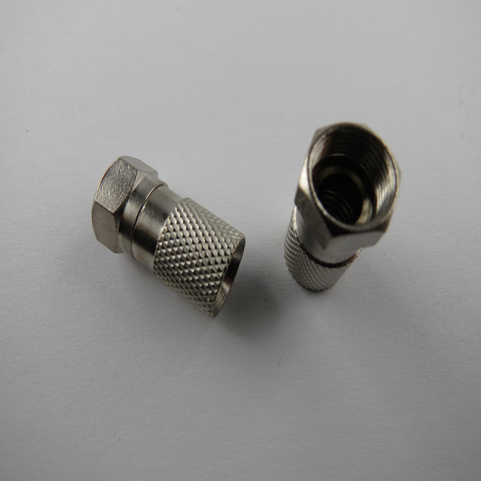 f stecker verbinder einbaubuchse antennenstecker sat f stecker koaxial kabel tv ebay. Black Bedroom Furniture Sets. Home Design Ideas